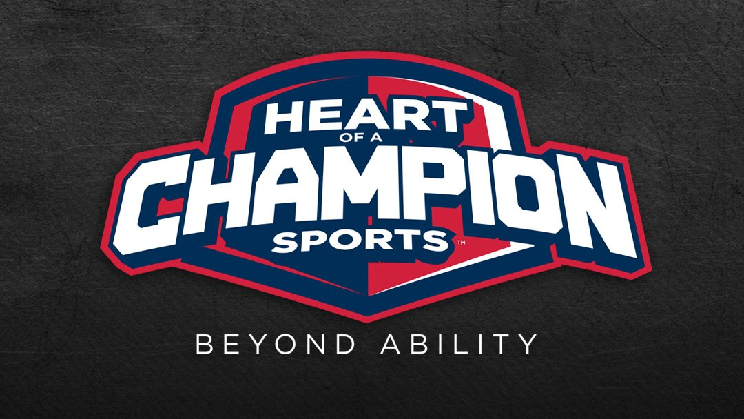 Heart of a Champion Sports Logo
